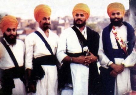 Left to Right : Shaheed Bhai Manmohan Singh Babbar, Shaheed Bhai Mehga Singh Babbar, Shaheed Bhai Sukhdev Singh Babbar, and Shaheeds Bhai Sulakhan Singh Babbar