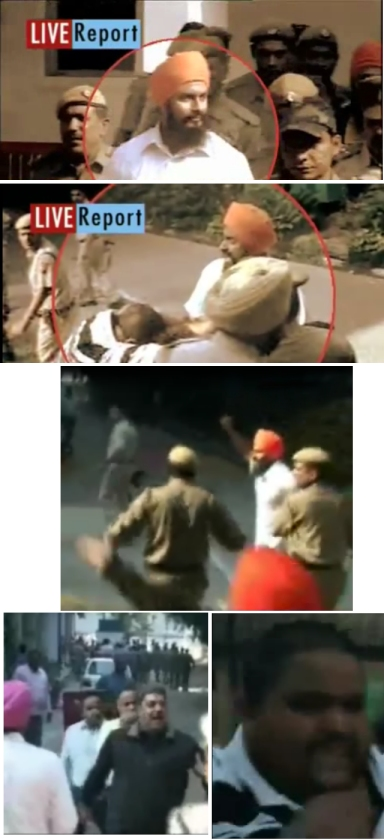 Images of Bhai Hawara outside the Court Complex