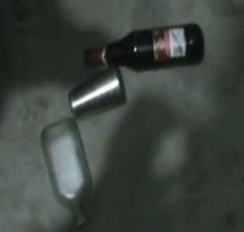 Bottles of Liquor discovered inside the dera complex