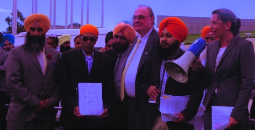 Australian Officials with Sikh Representatives