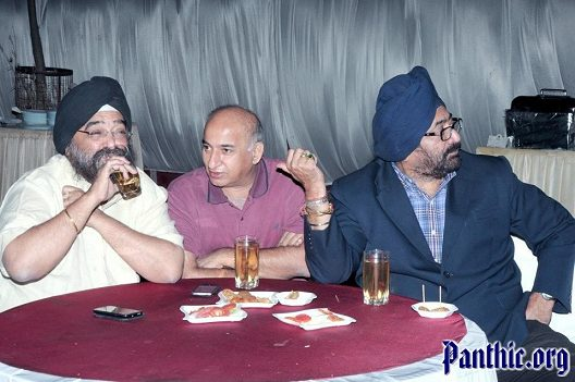 Paramjeet Chhabra (right) and associates openly consuming Alcohol at a public function