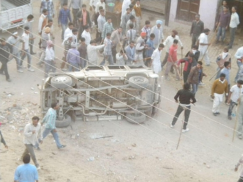 Motorcycles and Vehicles belonging to Sikhs Destroyed Cultists