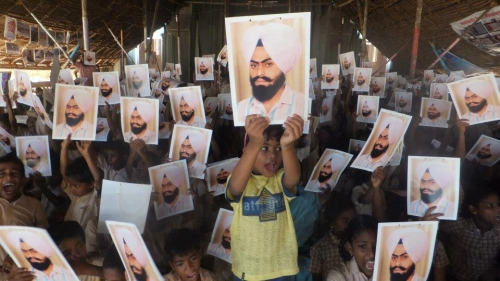 School Children in India in Support of Prof. Bhullar