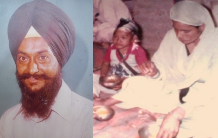 File Photo of Bhai Mohkam Singh and Shaheed Bibi Gurnaam Kaur