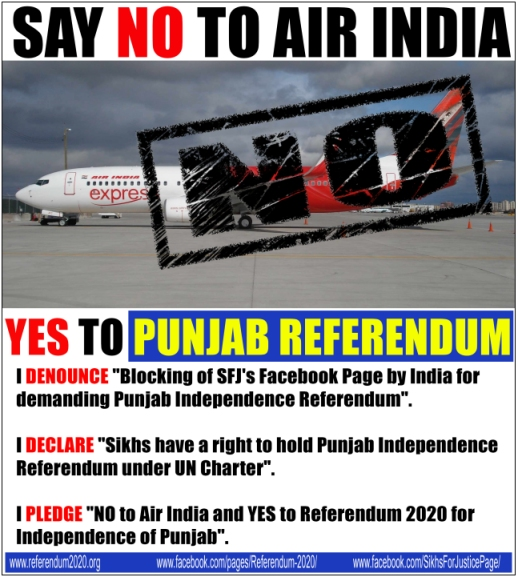 Sikhs for Justice Air India Boycott