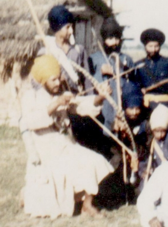 Bhai Sukhdev Singh at Shaheed Bhai Fauja Singh Ji's Khalsa Farm